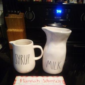 Rae Dunn milk & Syrup
